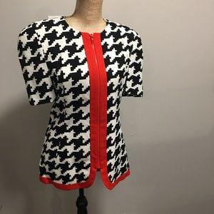 🇨🇦 Vintage Carolina Herrera Houndstooth Jacket